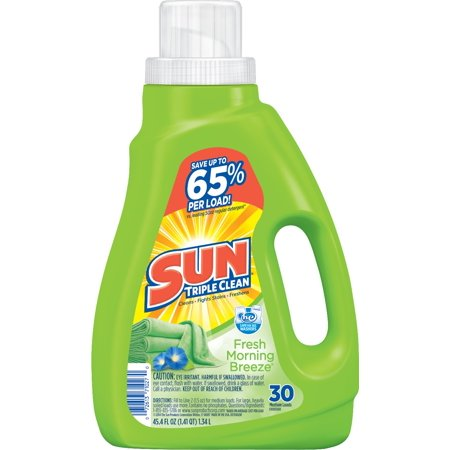 Sun  Fresh Morning Breeze  Laundry Detergent 30 Loads 45 4 Fl Oz Plastic Jug