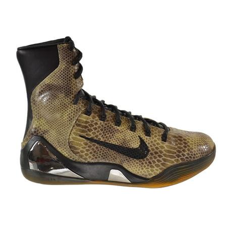 Nike Kobe Ix High Ext Qs  Snake Skin  Mens Shoes Snake Skin Black 716616 001