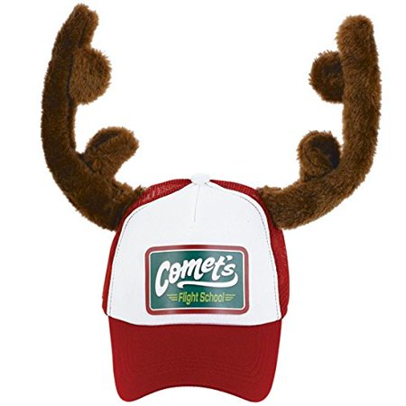 Amscan Fun-Filled Christmas and Holiday Party Trucker Hat with Reindeer Antlers (1 Piece), Multicolor, 8
