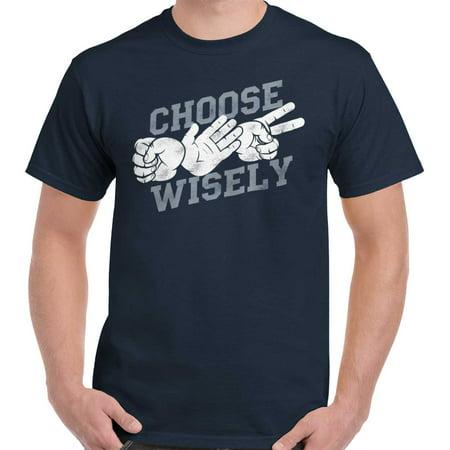 0e87b6c6 Brisco Brands - Choose Wisely Funny Shirt | Rock Paper Scissor Nerd ...