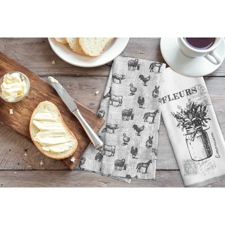 Discontinued - Last Chance Clearance! Better Homes & Gardens Mason Jar Blooms Kitchen Towels, Set of 2
