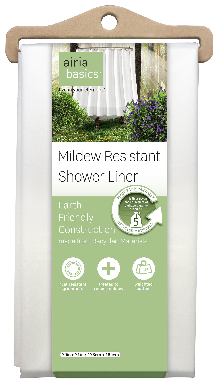 Airia Basics Recycled White PEVA Shower Liner, 1 Each