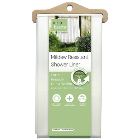 Airia Basics Recycled White PEVA Shower Liner, 1 Each
