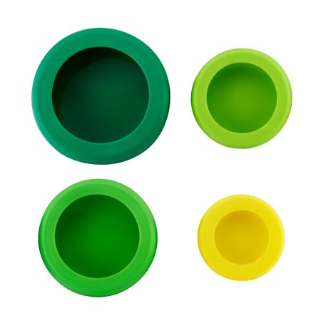 Farberware Food Huggers Reusable Silicone Food Savers, Fresh Greens