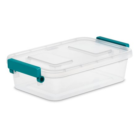 Sterilite 2.7 Quart Clear Modular Latch Box, 2 Piece