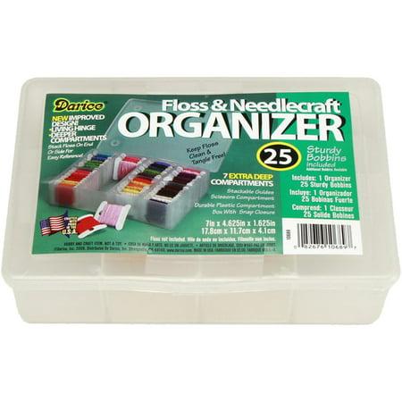 Darice Clear 50 Bobbin Floss Organizer, 1 Each