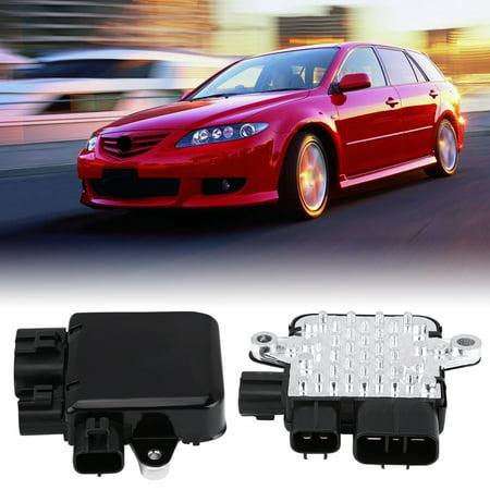 WALFRONT Cooling Fan Control Module Unit for Mazda 6 MPV Outlander Lancer  1355A124, Fan Control Module for Mazda, Cooling Fan Control Module