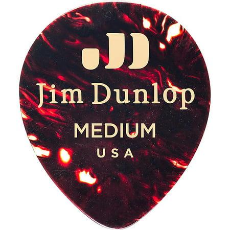 Dunlop Celluloid Teardrop Guitar Picks, Shell Medium 12 Pack