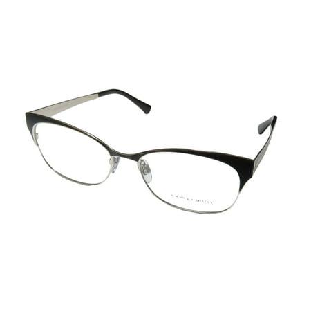 02aa318e62a53 New Giorgio Armani 5028 Womens Ladies Cat Eye Full-Rim Charcoal   Silver  Frame