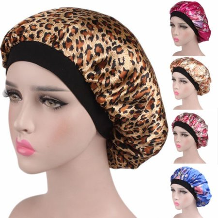 New Women Satin Headscarf Sleeping Bonnet Hair Wrap Silk Cap Headband Headwear