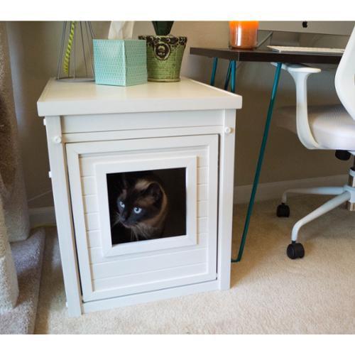 New Age Pet ecoFLEX Litter Loo Hidden Kitty Litter Box End Table