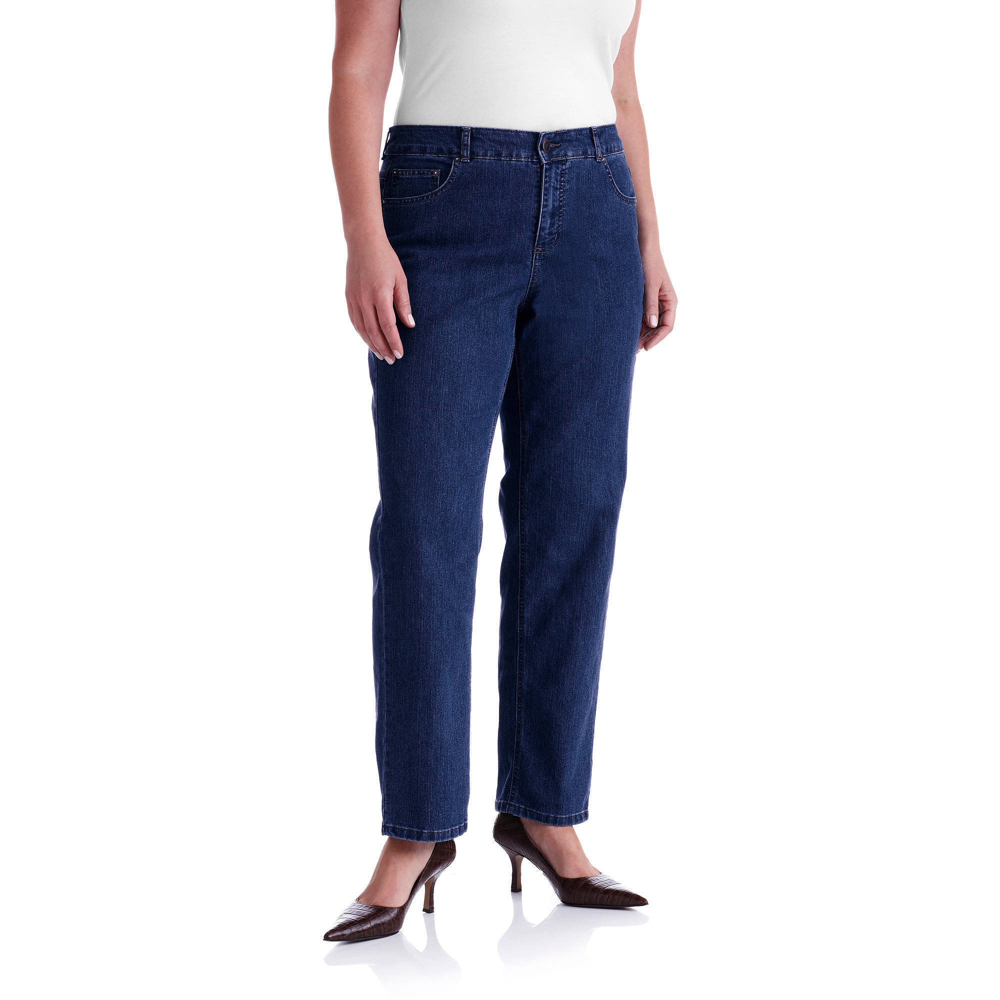 Just My Size Women's Plus-Size Slimming Classic Fit Straight-Leg ...
