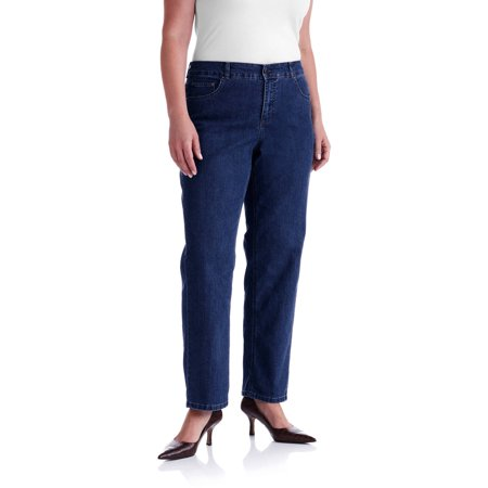 4be04bd60e0 Women s Plus-Size Slimming Classic Fit Straight-Leg Jeans With Tummy  Control