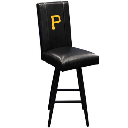 Terrific Pittsburgh Pirates Mlb Bar Stool Swivel 2000 With Secondary Logo Panel Squirreltailoven Fun Painted Chair Ideas Images Squirreltailovenorg