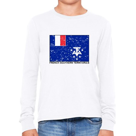 French Southern TerritoriesFlag - Special Vintage Edition Boy's Long Sleeve T-Shirt ()