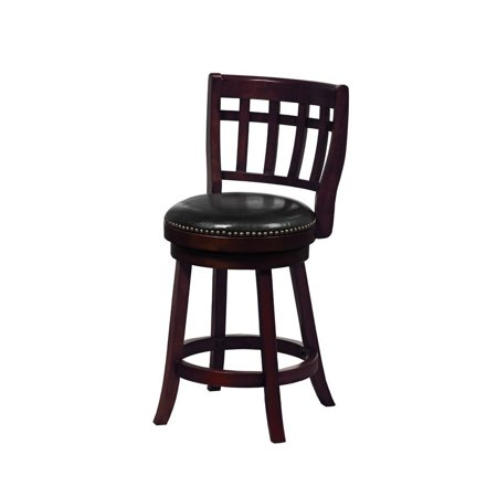 Counter Gear - Mintra Cappuccino Colorado 24-inch Bicast Leather Swivel Counter Stool