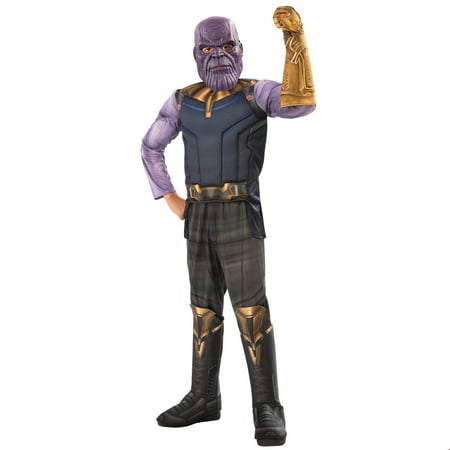 Marvel Avengers Infinity War Thanos Deluxe Boys Halloween Costume - Black Widow From Avengers Costume