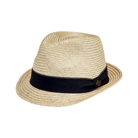 Men's San Diego Hat Company Sisal Fedora with Stripe Grosgrain SDH3049