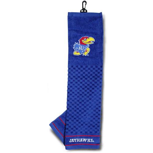 Team Golf NCAA Kansas Embroidered Golf Towel