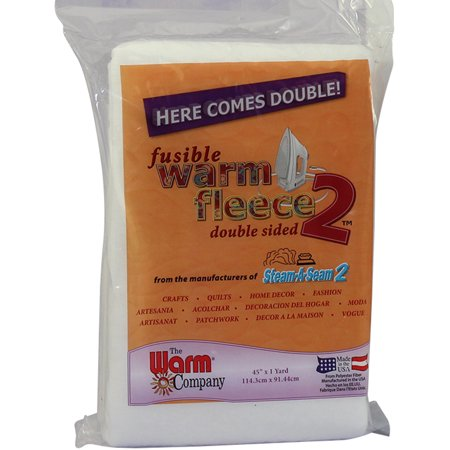 Warm Fleece Polyester Double Sided Fusible Batting, 36