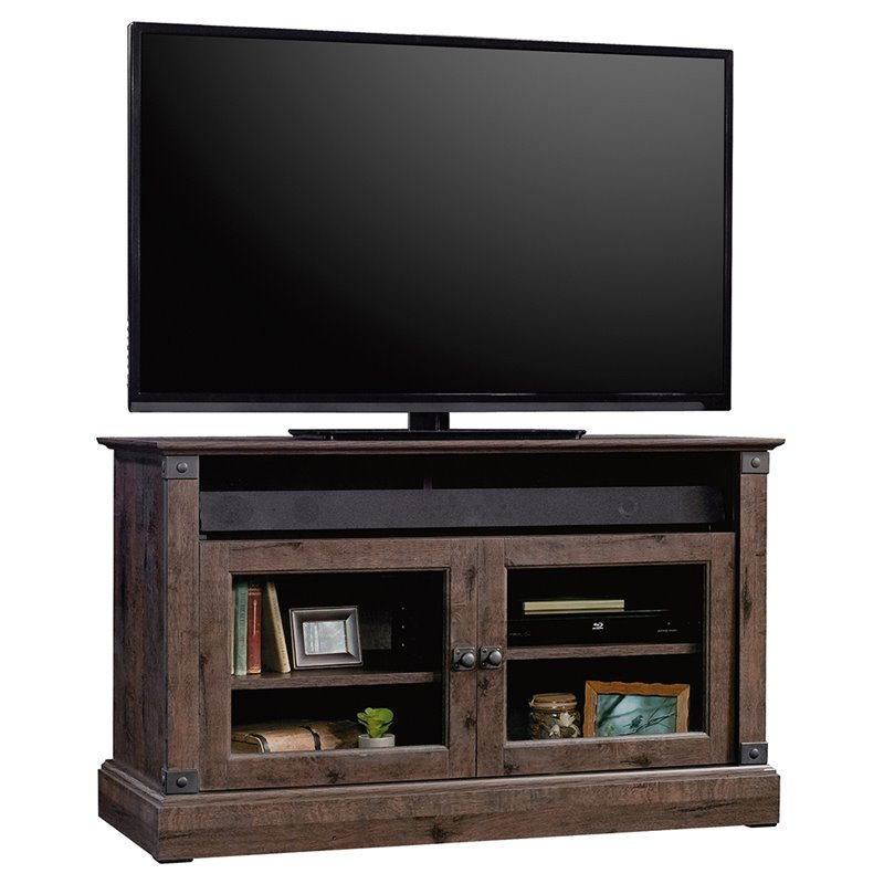 "Pemberly Row Panel 43"" TV Stand in Coffee Oak"