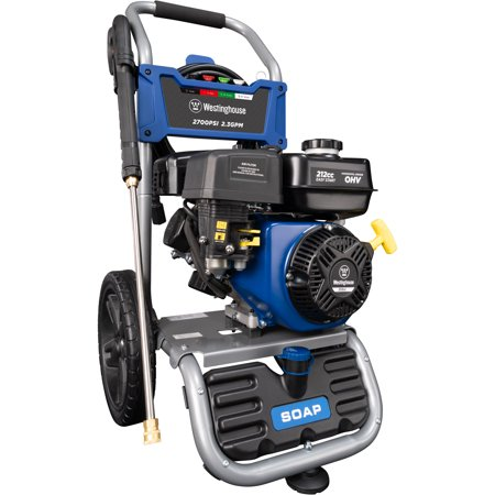 Westinghouse WPX2700 Gas Powered Pressure Washer - 2700 PSI and 2.3 GPM - Soap Tank and Four Nozzle Set - CARB Compliant