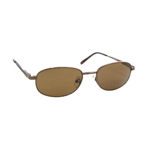 Coppermax 3711GPP BRN/AMBER Logan Polarized Sunglasses - Shiny Brown - Amber Lens