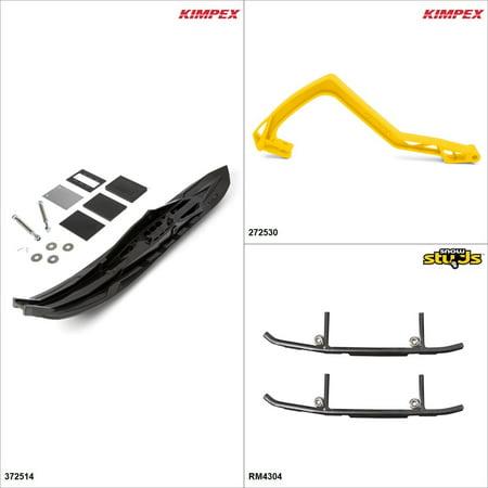 6000 Capability Kit - Kimpex - Arrow Ski Kit - Black, Arctic Cat ZR 6000 2014-18 Black / Yellow  #KK00002003_35