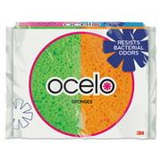 O-Cel-O Sponge With Stayfresh Technology, 4 7/10 x 3 x 3/5, 4-pack