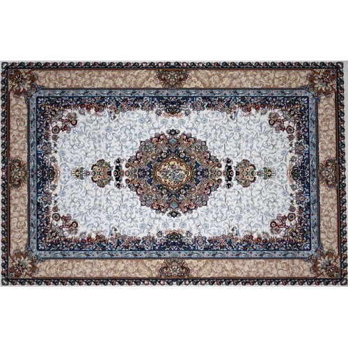Astoria Grand Mefford Hand Look Persian Wool Brown/Blue/Pink Area Rug