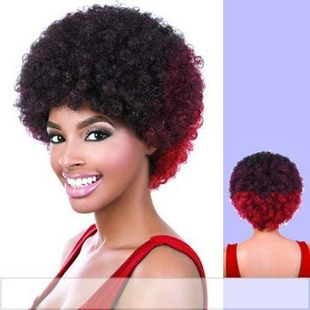 AFRO (Motown Tress) - Heat Resistant Fiber Full Wig in 1B - image 1 of 1
