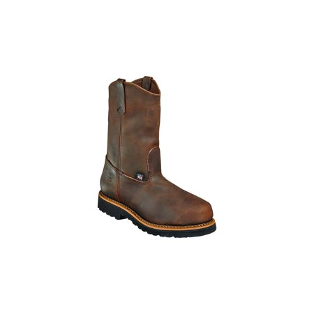 Mens Brown Safety Toe Wellington Work Boots 804 3310 Walmartcom