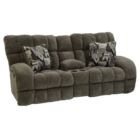 Catnapper siesta reclining console loveseat for Catnapper cloud nine chaise recliner