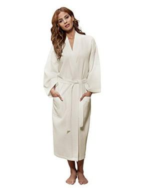 4e49d8fb32 Product Image Turquaz Linen Lightweight Long Waffle Kimono Unisex Spa Robe  (Small Medium