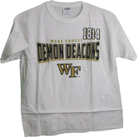 Wake Forest Demon Deacons 1834 Name Logo Graphic Adult T-Shirt (Large)
