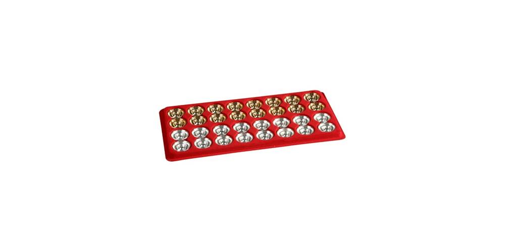 Metal Backgammon Game Discs w Silver & Gold-Plate Finishes by Cambor