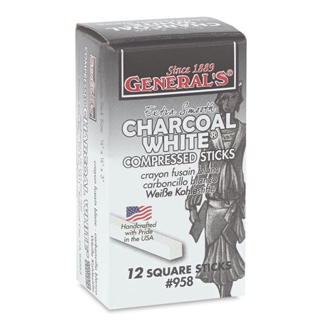 General's White Charcoal - Pack of 12 (Original Charcoal Drawing)