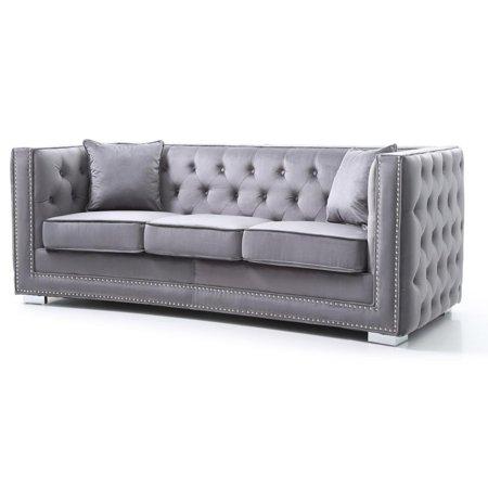 Glory Furniture Miami G800-S Loveseat, Gray ()