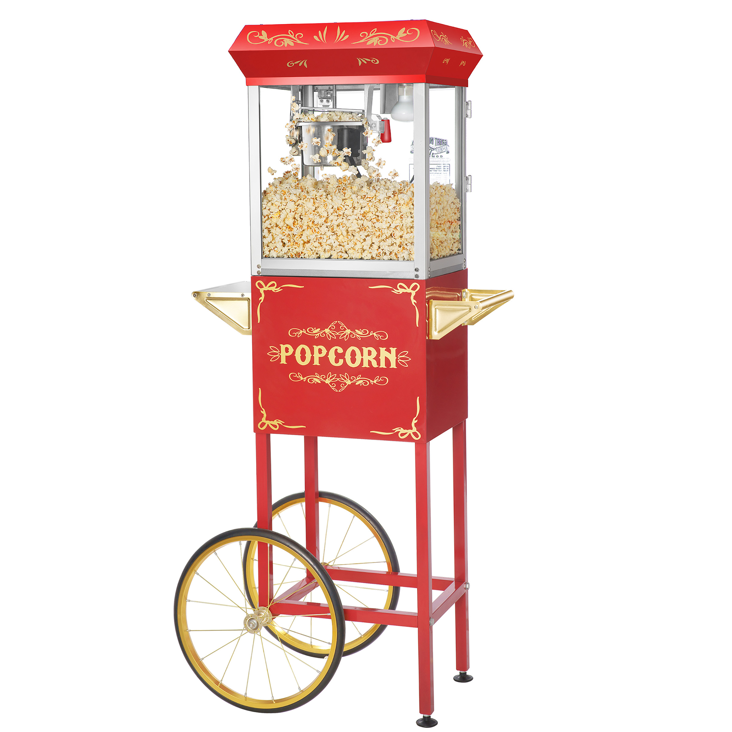 Foundation Popcorn Popper Machine Cart with Cart, 4 Ounce by Great Northern Popcorn