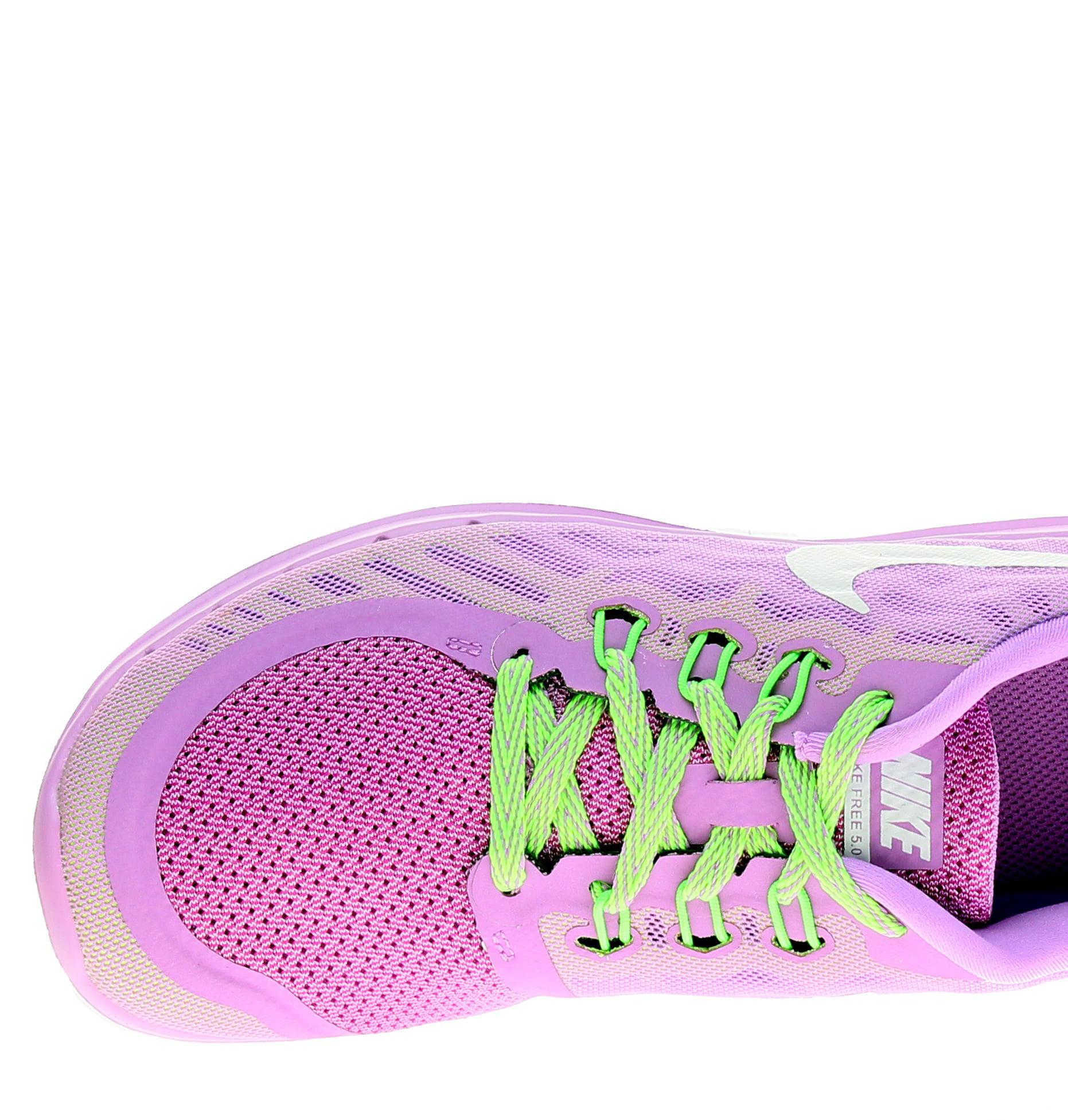 Nike Free 5.0 (GS) White/Pink Pow Girls' Running Shoes 725114-500