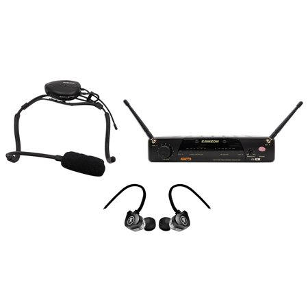 Samson Airline (Samson Airline 77 Wireless Fitness Headset Microphone Mic System+Mackie Earbuds )