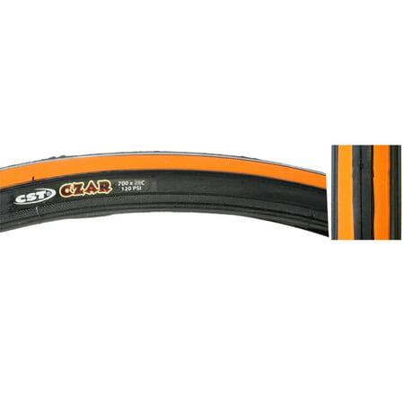 CST Czar Comp Road Tire Black Orange 700x25c Training Race Urban Fixed Gear