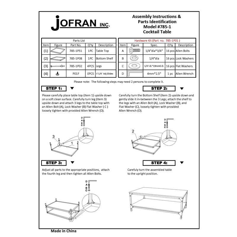 Jofran Coffee Table Canada