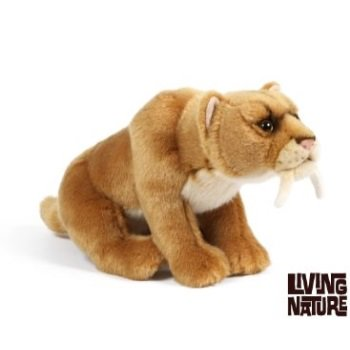 Sabre Tooth Tiger Plush Soft Toy by Living Nature 30cm.AN395 by Living