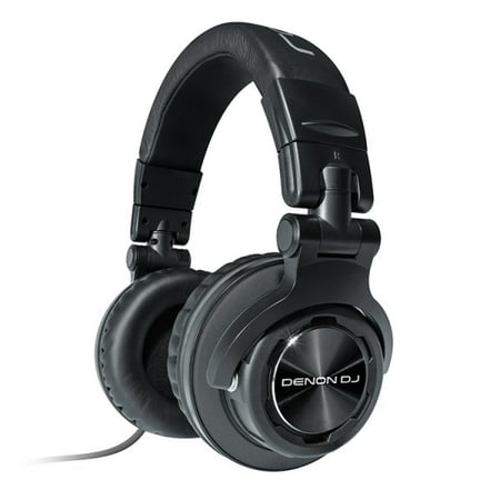 Denon DJ HP1100 | Professional Over-Ear DJ Headphones with 180-degree Cup Swivel & Leather Carry Bag (53mm driver / 3500mW input) - Headphones 53mm Driver