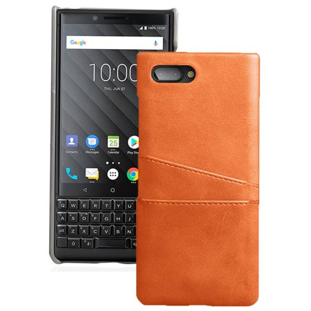 new concept d9a30 926ce BlackBerry Key2 Case, Credit Card Slot Hard Shell Wallet Cover for  BlackBerry KEY2 Phone, Key 2 (BBF100-1, BBF100-4, BBF100-6)