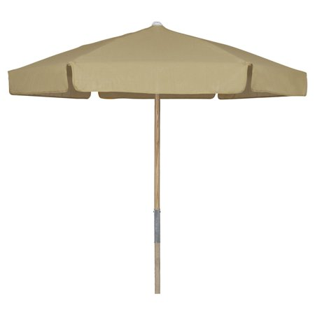 Fiberbuilt 7 5 Ft Wood Beach Umbrella With Vinyl Coated
