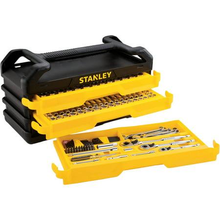 stanley full polish 235 pc mechanics tool set w 3 drawer chest for 89 walmart fs. Black Bedroom Furniture Sets. Home Design Ideas