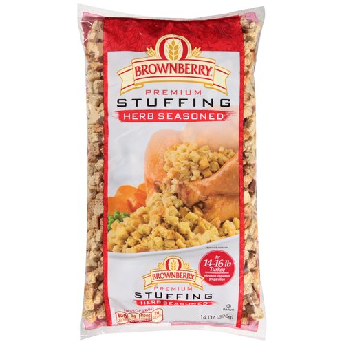 Brownberry Cubed Herb Seasoned Premium Stuffing, 14 oz