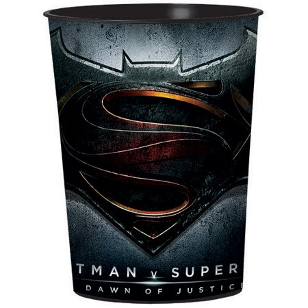 Batman V Superman 16oz Favor Cup - Party - Superman Party Favors